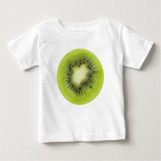 Fresh kiwi fruit. Round slice closeup isolated Baby T-Shirt