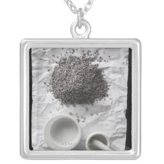 Fresh Lavender For Relaxation and Sleep Silver Plated Necklace