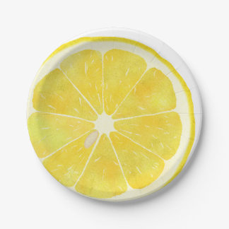 Fresh Lemon 7 Inch Paper Plate