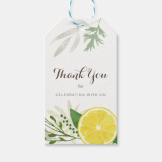 Fresh Lemon Thank You Gift Tags