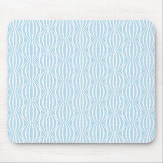 Fresh Light Blue and White Circle Pattern Mouse Mat