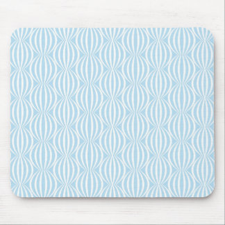 Fresh Light Blue and White Circle Pattern Mouse Pad