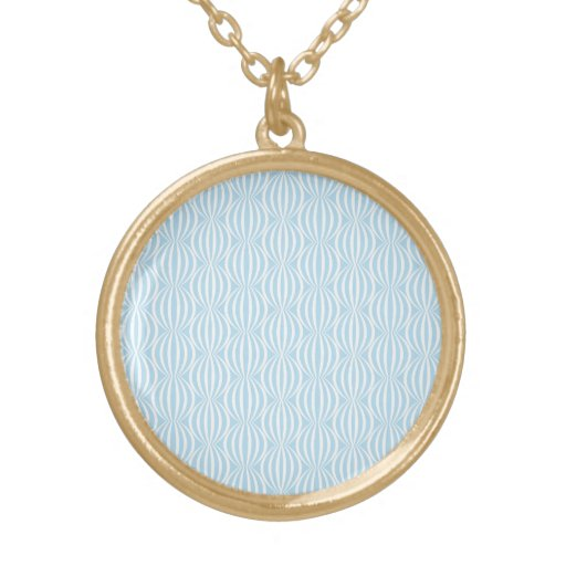 Fresh Light Blue and White Circle Pattern Personalized Necklace