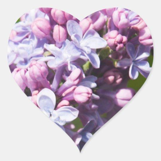 Fresh Lilacs Heart Sticker