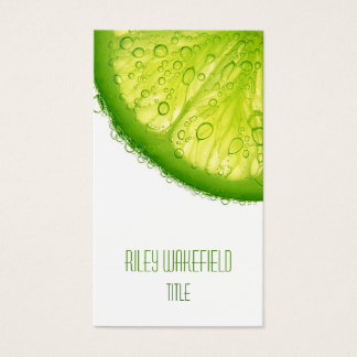 Fresh Lime Slice Business Card