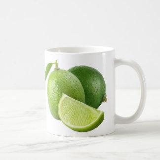Fresh limes basic white mug
