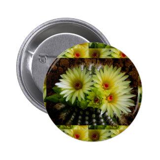 FRESH look CACTUS CACTI Flower Show: Greetings 6 Cm Round Badge