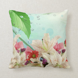 Fresh looking Orchids make a beautiful Pillow