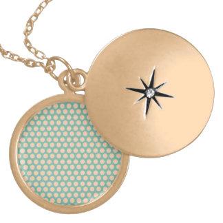 Fresh Mint Green and Yellow Circle Pattern Pendant