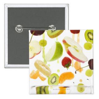 Fresh mixed fruit with apple & orange juice 15 cm square badge