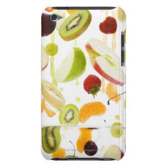 Fresh mixed fruit with apple & orange juice iPod touch case