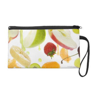 Fresh mixed fruit with apple & orange juice wristlet