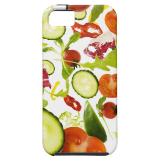 Fresh mixed salad vegetables falling to camera iPhone 5 covers