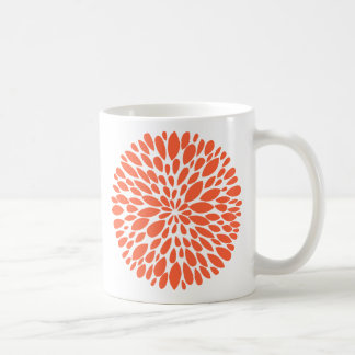 Fresh Modern Abstract Chrysanthemum Mug
