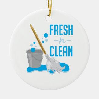 Fresh N Clean Round Ceramic Decoration
