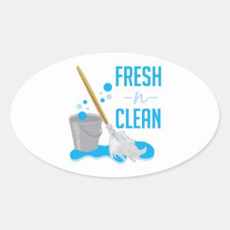 Fresh N Clean Oval Sticker