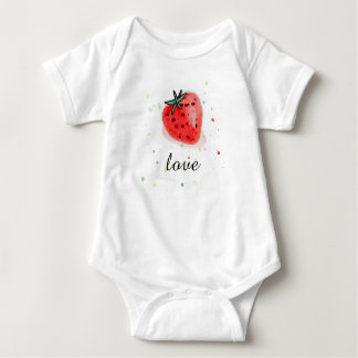 Fresh natural fruit strawberry for baby baby bodysuit