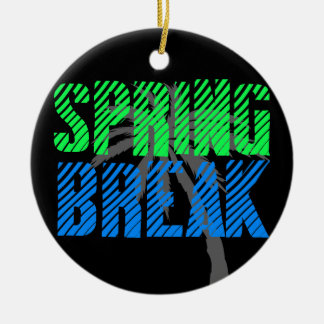 Fresh Neon Spring Break Christmas Ornament