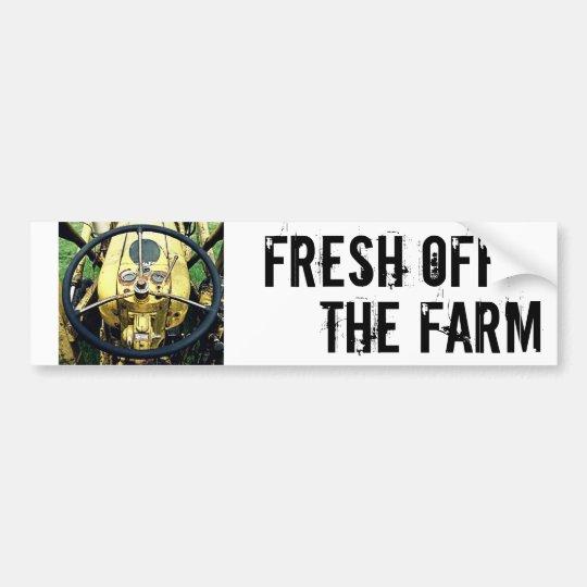 Fresh off the Farm - Tractor Steering Wheel Bumper Sticker