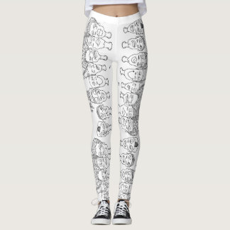 fresh off the ink faces leggings