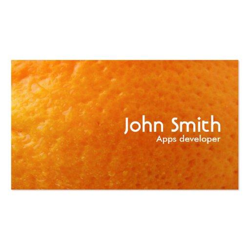 Fresh Orange Apps developer Business Card