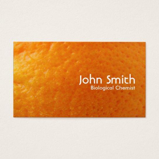 Fresh Orange Biological Chemist Business Card