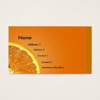 Fresh Orange Business Card