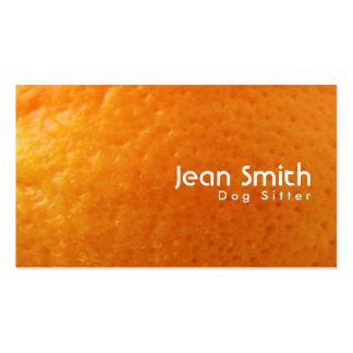 Fresh Orange Texture Dog Sitter Business Card