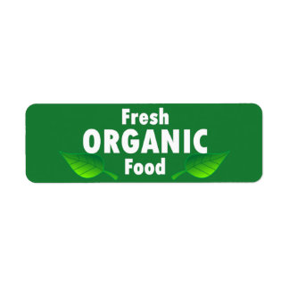 Fresh Organic Food Label Return Address Label