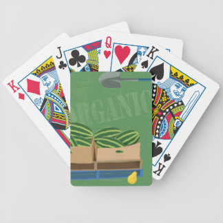 Fresh Organic Melons Bicycle Playing Cards