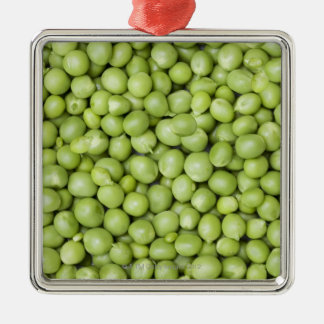 Fresh organic peas 2 christmas ornament