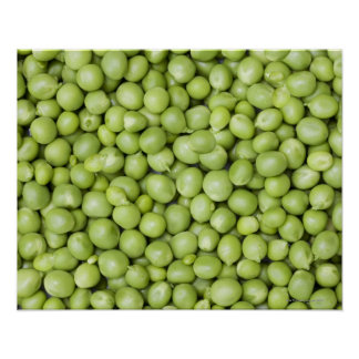 Fresh organic peas 2 poster