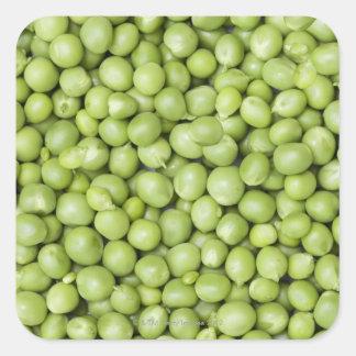 Fresh organic peas 2 square sticker