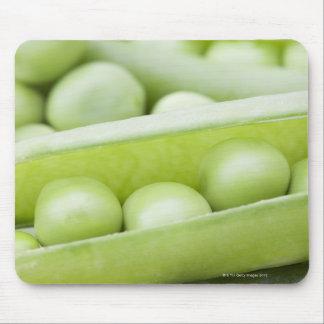 Fresh organic peas mouse mat