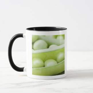 Fresh organic peas mug
