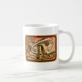 Fresh Oysters Vintage Advertisement circa 1870 Coffee Mug