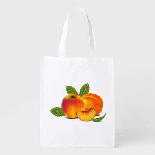 Fresh Peaches Grocery Bag