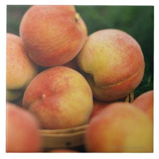 Fresh peaches tile