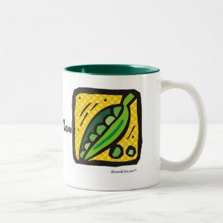 Fresh Peas. Two-Tone Mug