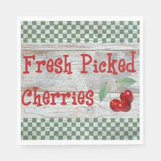 Fresh Picked Cherries Paper Napkins