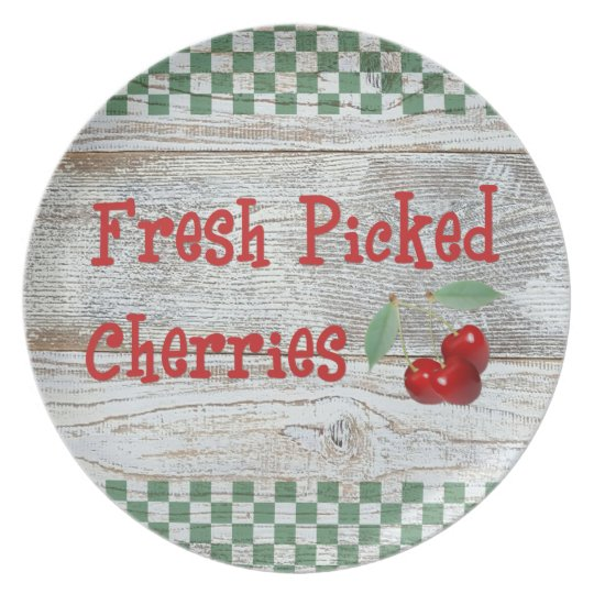 Fresh Picked Cherries Plate