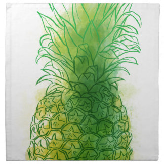 Fresh pineapple printed napkin