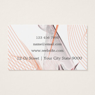Fresh Pink Lines Business Card
