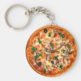 Fresh Pizza Theme Key Ring