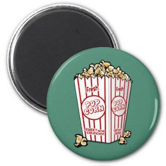 Fresh Popcorn 6 Cm Round Magnet