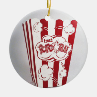 Fresh Popcorn Bag red Vintage Christmas Ornament