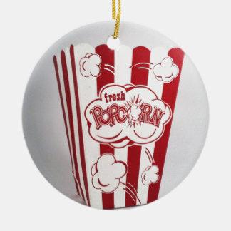 Fresh Popcorn Bag red Vintage Round Ceramic Decoration