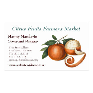 Fresh Produce Farmers Market Vintage Style Pack Of Standard Business Cards