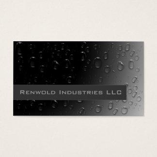 Fresh Rain on Black Business Card