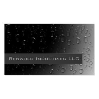 Fresh Rain on Black Pack Of Standard Business Cards